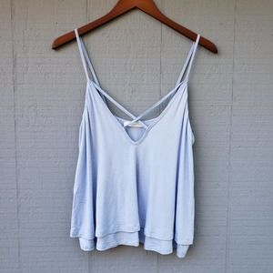 Lush Double Layer Strappy Neckline Swing Tank Med